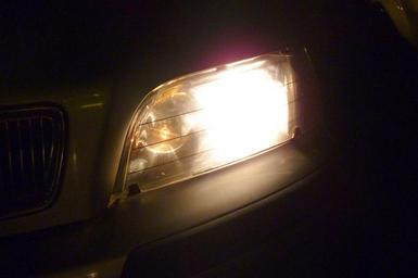 Fungující světlomet
