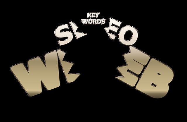 obrázek znázorňující základní složky webu (seo) a seo (klíčová slova)