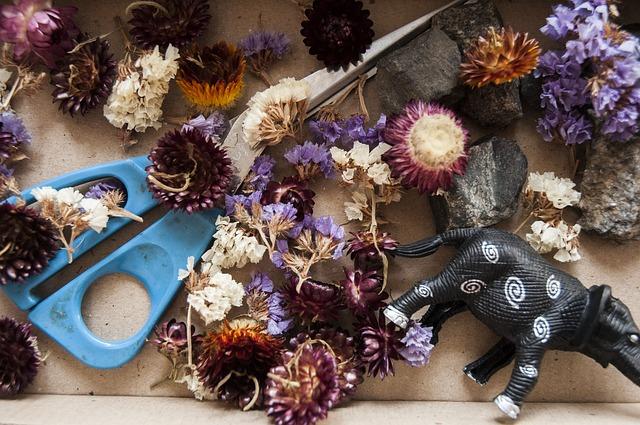 výroba z květin